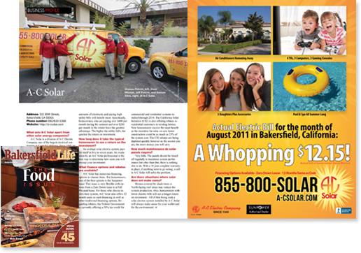 A c solar in bakersfield life magazine a c electric company for Bakersfield home magazine